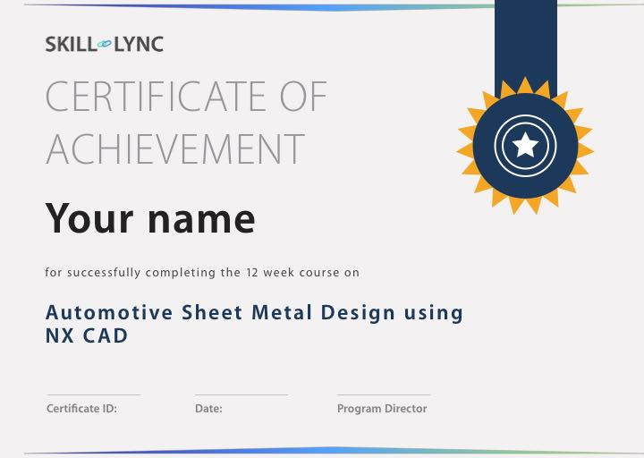 Automotive Sheet Metal Design using NX CAD - Courses - Skill-Lync