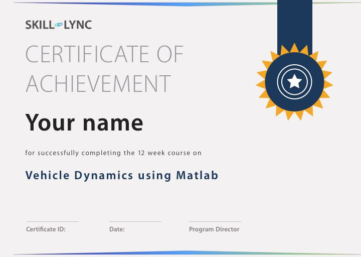 Vehicle Dynamics Using Matlab Courses Skill Lync