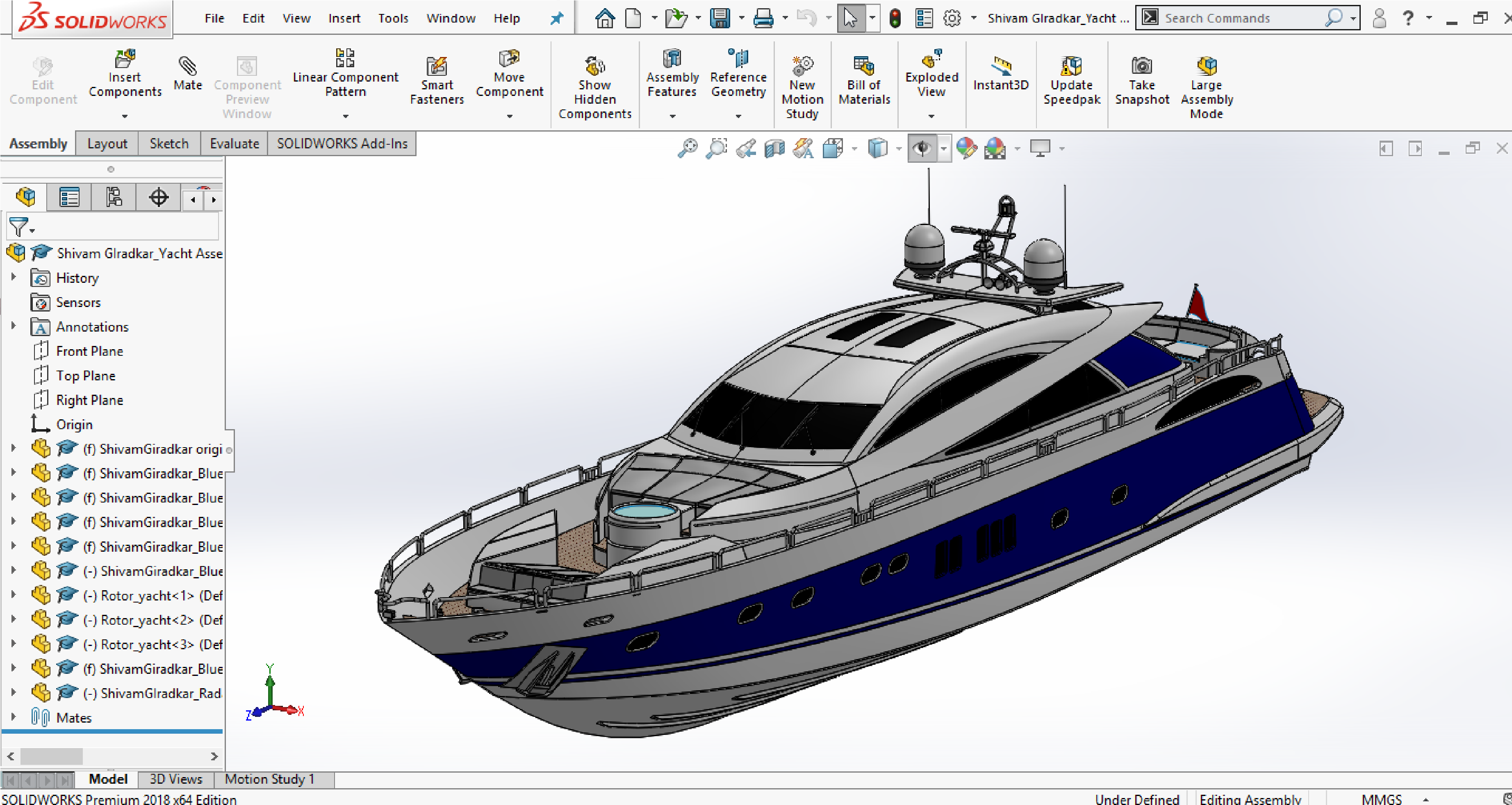 YACHT ASSEMBLY - Projects - Skill-Lync
