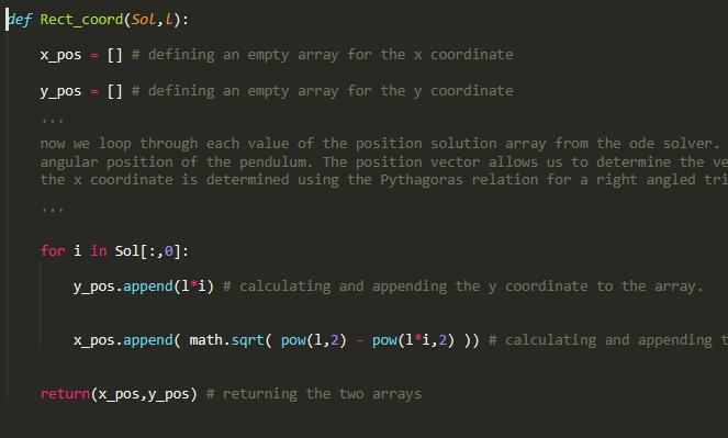 Simulation of a pendulum - Projects - Skill-Lync