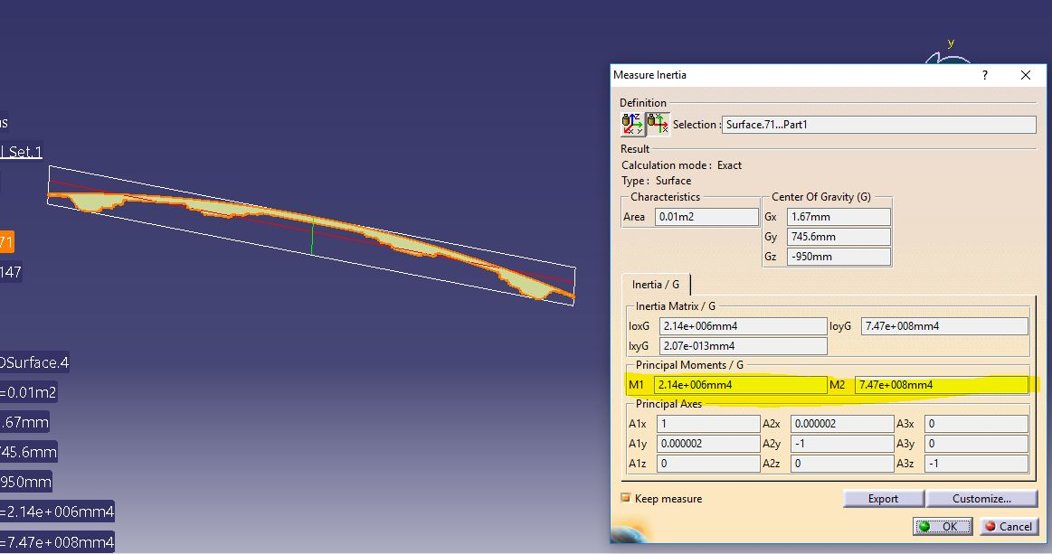 Hood - Section Modulus calculation and optimization